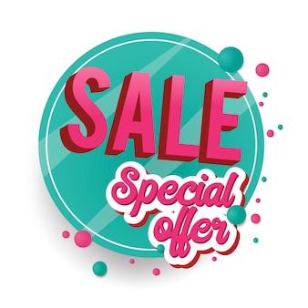 Speciale aanbieding verkoop teken