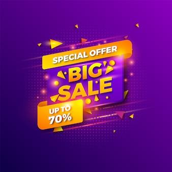 Speciale aanbieding verkoopsjabloon. banner verkoop. winkelpromotie.