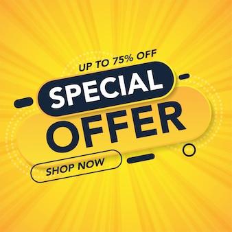 Speciale aanbieding verkoopsjabloon promotiebanner
