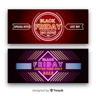 Speciale aanbieding zwarte vrijdag banners