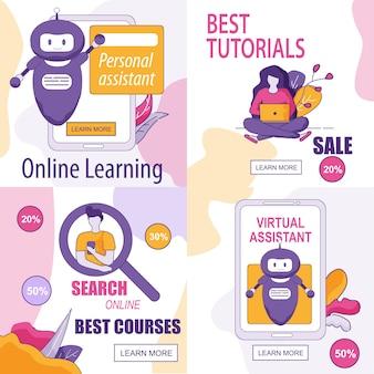 Speciale aanbiedingen en informatie over de bannerset van online assistants