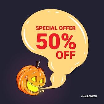 Speciale banner voor promotie in halloween