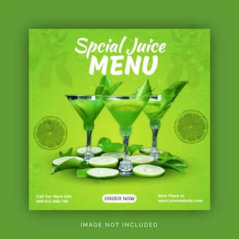 Speciale citroen vers sap menu social media post template