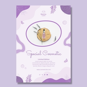 Speciale cosmetische flyer ontwerpsjabloon