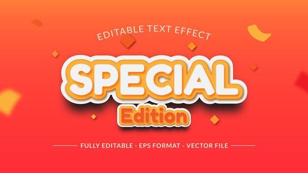 Speciale editie teksteffect met vallende confetti
