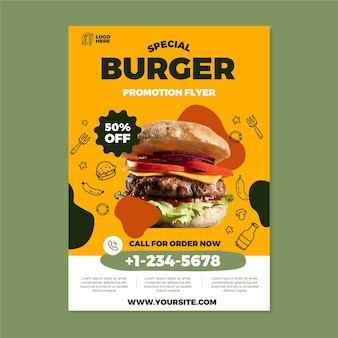 Speciale flyer-sjabloon voor hamburgers