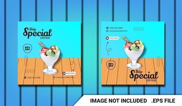 Speciale kortingsverkoop social media postsjabloon