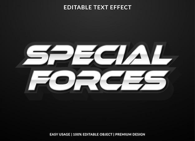 Speciale krachten teksteffectsjabloon met zilveren stijl