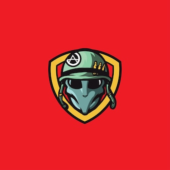 Speciale legereenheden met vogelmasker - logo template