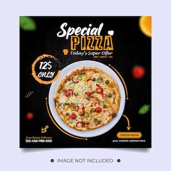 Speciale pizza-sjabloon voor sociale media