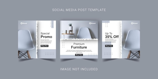 Speciale promo premium meubels sociale media post sjabloonontwerp