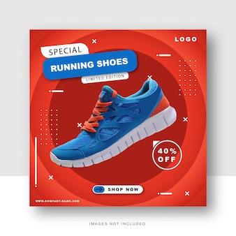 Speciale schoenen sociale media en instagram postsjabloon