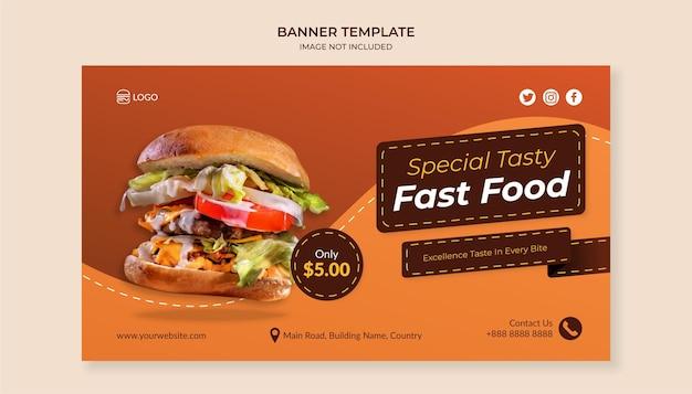 Speciale smakelijke fastfood-sjabloon voor spandoek