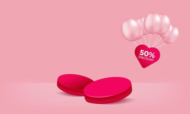 Speciale valentijn showcase 3d-vector