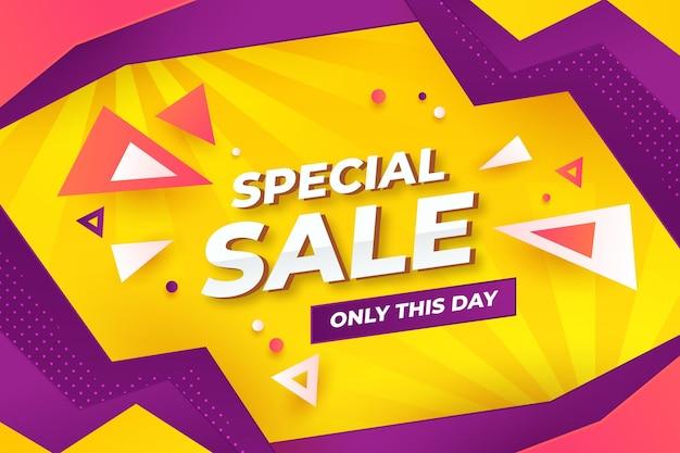 Speciale verkoop abstract ontwerp als achtergrond