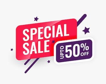 Speciale verkoop abstracte banner ontwerpsjabloon