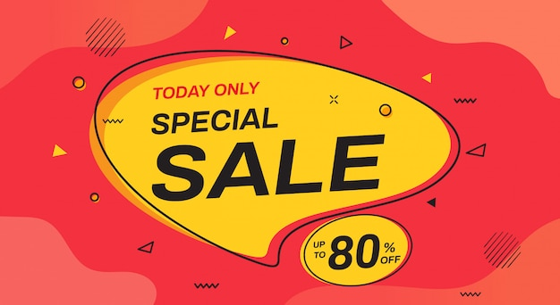 Speciale verkoop banner ontwerp. sjablonen voor verkoopbanners.