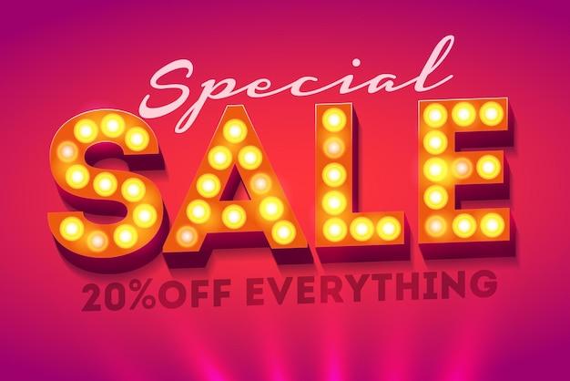 Speciale verkoop banner sjabloonontwerp