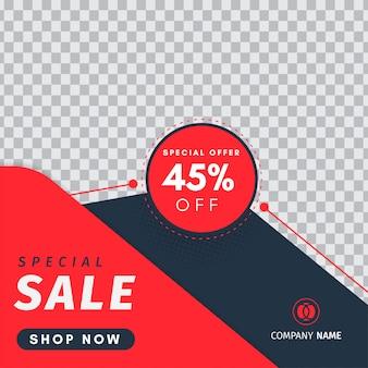 Speciale verkoop instagram-post