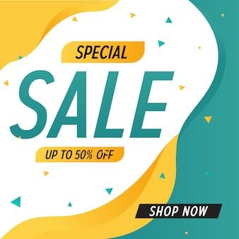 Speciale verkoop korting aanbieding promotie web app banner vectorillustratie