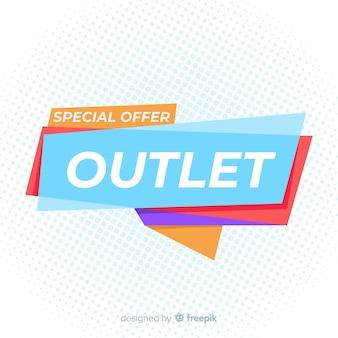 Speciale verkoop outlet banner
