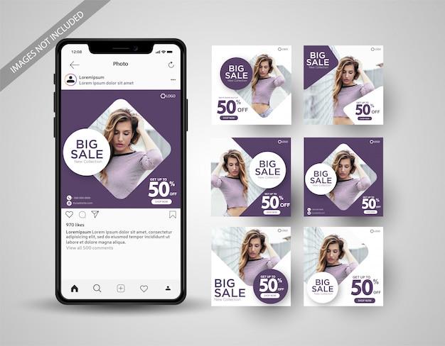 Speciale verkoop social media post collectie instagram