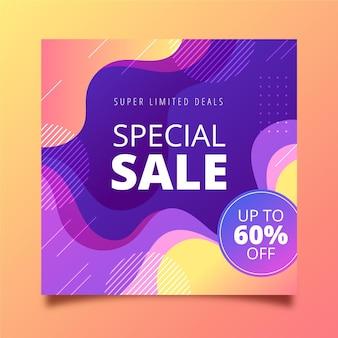 Speciale verkoop verloop kwadraat flyer