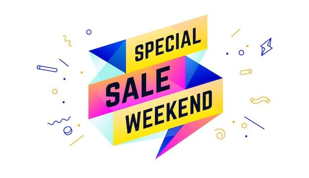 Speciale verkoop weekend illustratie