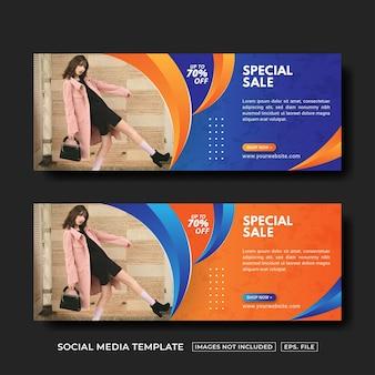Speciale verkoopbanner social media postsjabloon