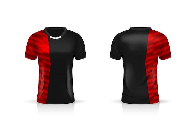 Specificatie soccer sport, esport gaming t-shirt jersey-sjabloon.