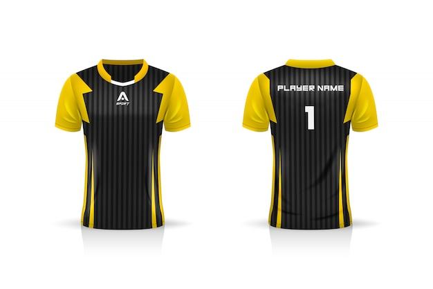 Specificatie soccer sport, esports gaming t shirt jersey-sjabloon. uniform. illustratie
