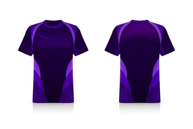Specificatie voetbal sport, esports gaming t-shirt jersey-sjabloon.