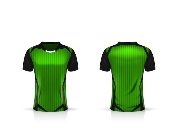Specificatie voetbal sport-mockup, esports gaming t-shirt jersey-sjabloon. mock-up uniform. vector illustratie ontwerp