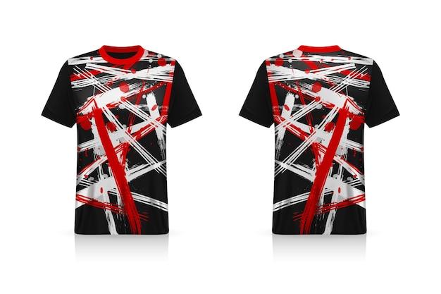 Specificatie voetbal sport mockup esports gaming t-shirt jersey sjabloon mock up uniform