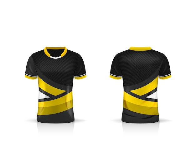 Specificatie voetbal sport t-shirt jersey illustratie sjabloonontwerp