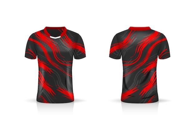 Specificatie voetbalsport, esports gaming t-shirt jersey-sjabloon.