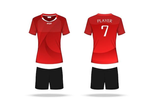 Specificatie volleybal jersey geïsoleerd op een witte achtergrond