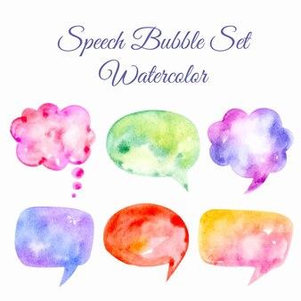 Speech bubble set aquarel illustratie