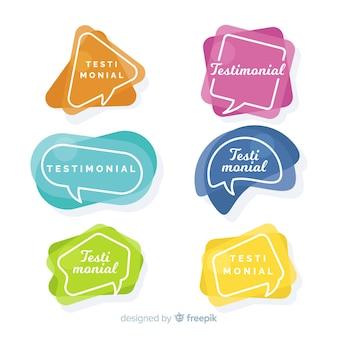 Speech bubble testimonial
