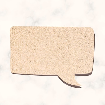 Speech bubble vector in glitter beige textuur stijl