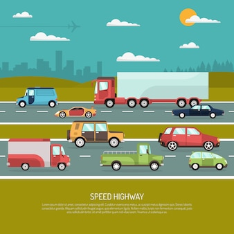 Speed highway illustratie