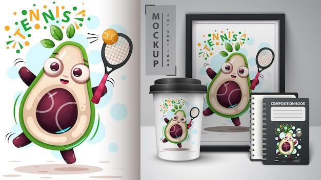 Speel avocado's en merchandising