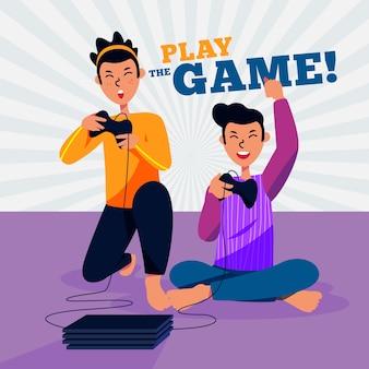 Speel de game lokale coöp