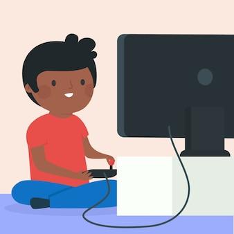Speel de hele dag online gameverslaving