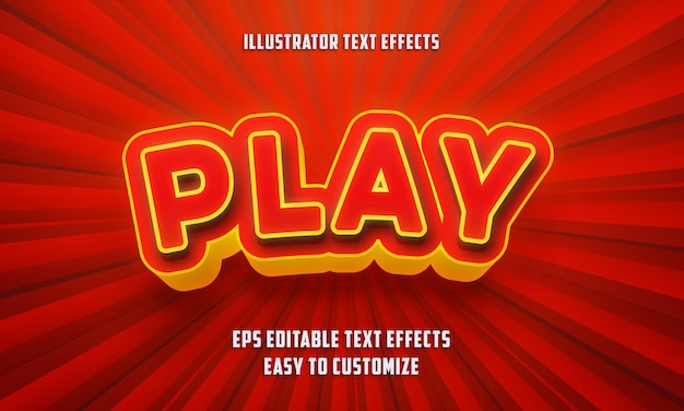 Speel de stijl van bewerkbare teksteffecten
