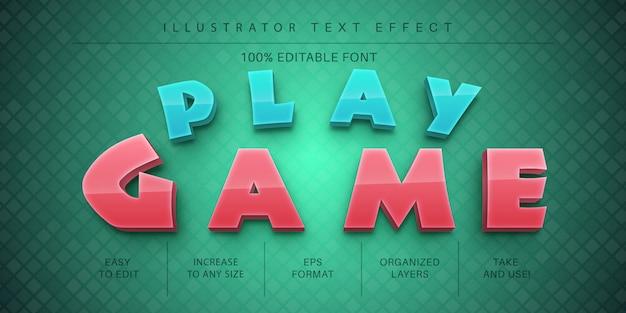 Speel de tekststijl van het spel, lettertype-effect