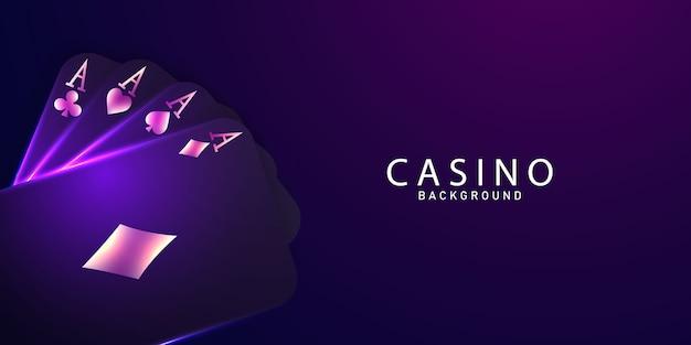 Speel kaart. poker winnen