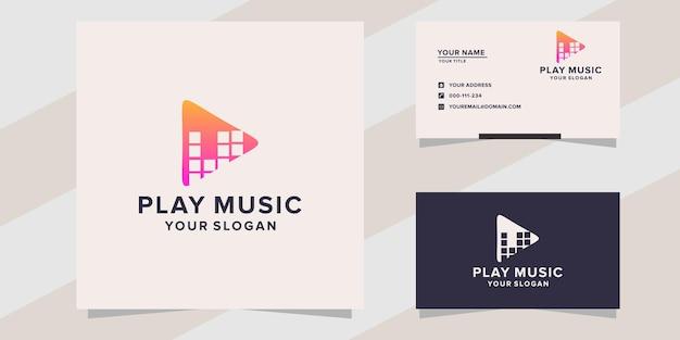 Speel muziek logo sjabloon