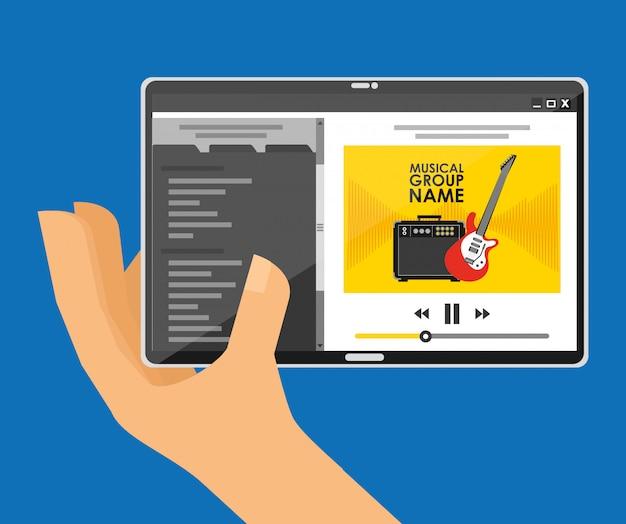 Speel muziek met tablet