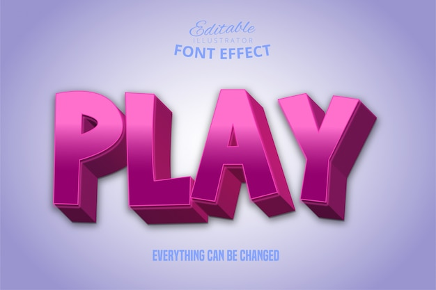 Speel tekst, 3d bewerkbaar lettertype-effect